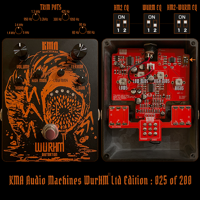 The KMA Audio Machines Limited Edition WurHM Metal Distortion has Landed!