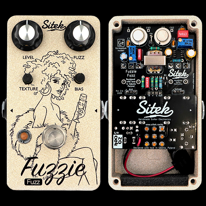 Sitek's New and Upgraded Fuzzie V2 Germanium Fuzz really shines with its Super Smooth Violin Tones