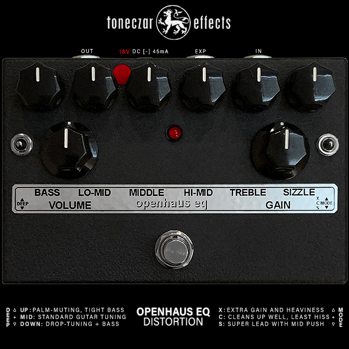Ed Rembold's Toneczar Openhaus 6-Band Active EQ High Gain Distortion is a Beautifully Balanced Metal Monster