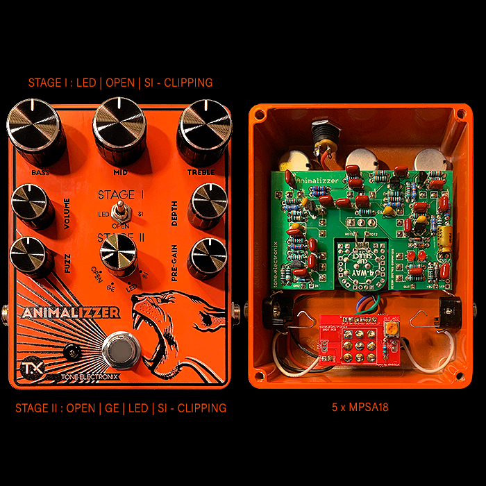 Ricardo Cabecas of TX Pedals Delivers the Ultimate in Versatile MufferFuzzer with his Extended-Range Animalizzer Fuzz, Boost, Overdrive and Distortion Pedal