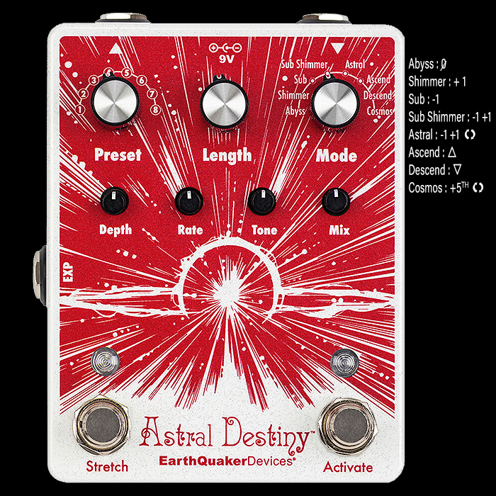 EarthQuaker Devices Releases the Divine Astral Destiny Octal Octave Reverberation Unit