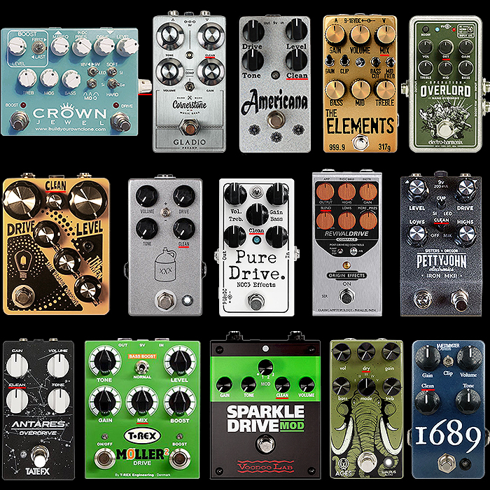 15 Notable Overdrive Pedals with Clean Blend Control