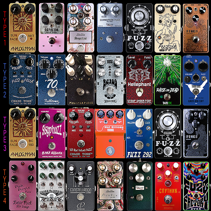The 3 Key Original Fuzz Face Types and Derivations