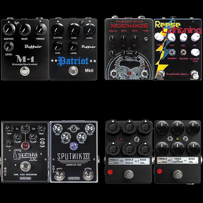 4 Killer Pairs of Medium Enclosure Extended Range Fuzz Pedals