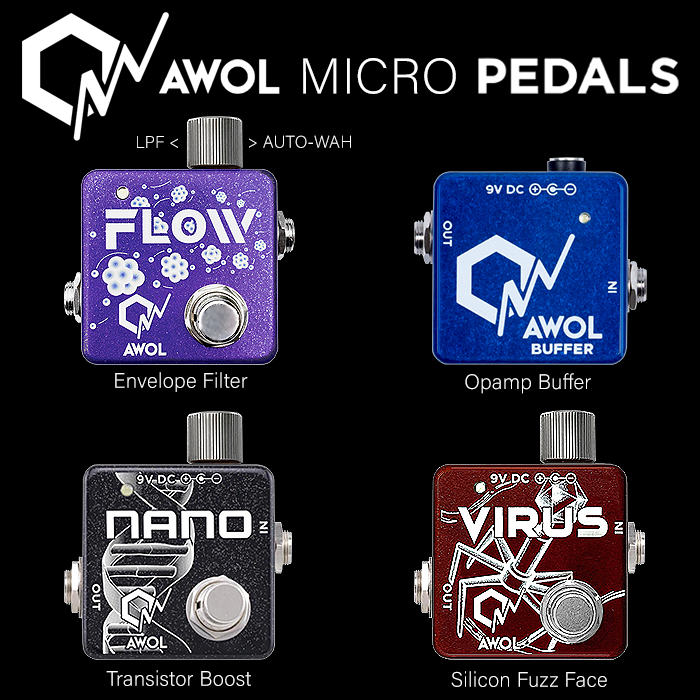 AWOL Pedals Unveils New Flow Envelope Filter Micro Pedal
