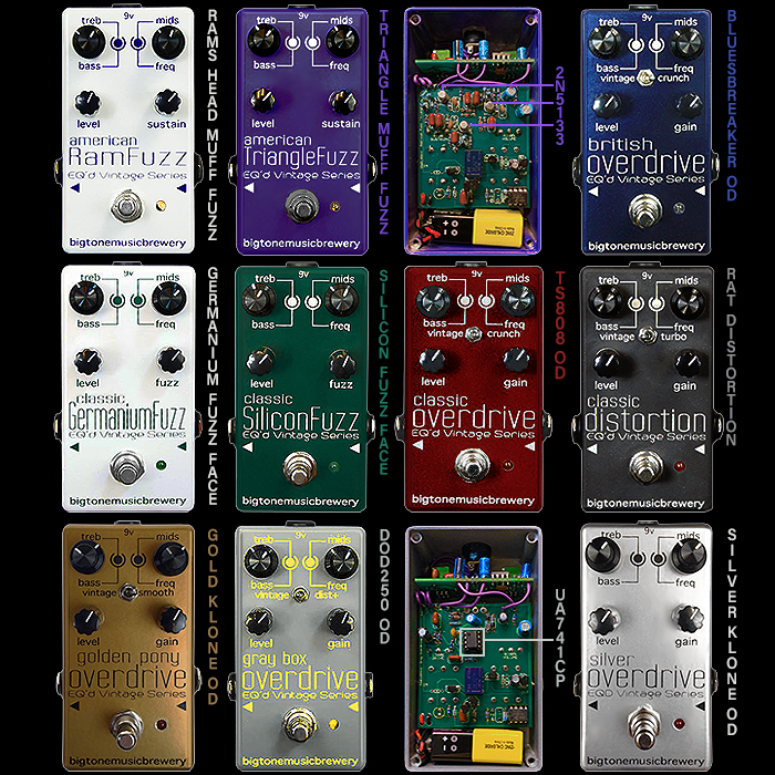 In Praise of the Under-appreciated Big Tone Music Brewery's EQ'd Vintage Series of Classic Fuzz, Overdrive and Distortion Pedals