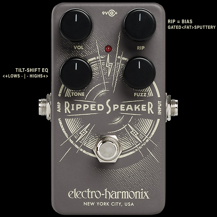 Electro-Harmonix Releases Highly Versatile and Textural Ripped Speaker Fuzz