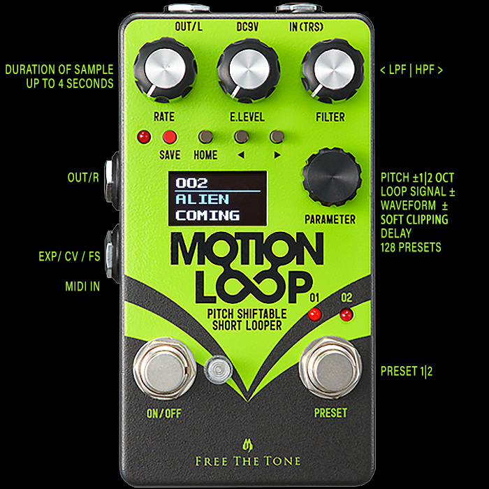 Free The Tone Delivers Smart Stereo Motion Loop Sample-Repeater-Shifter
