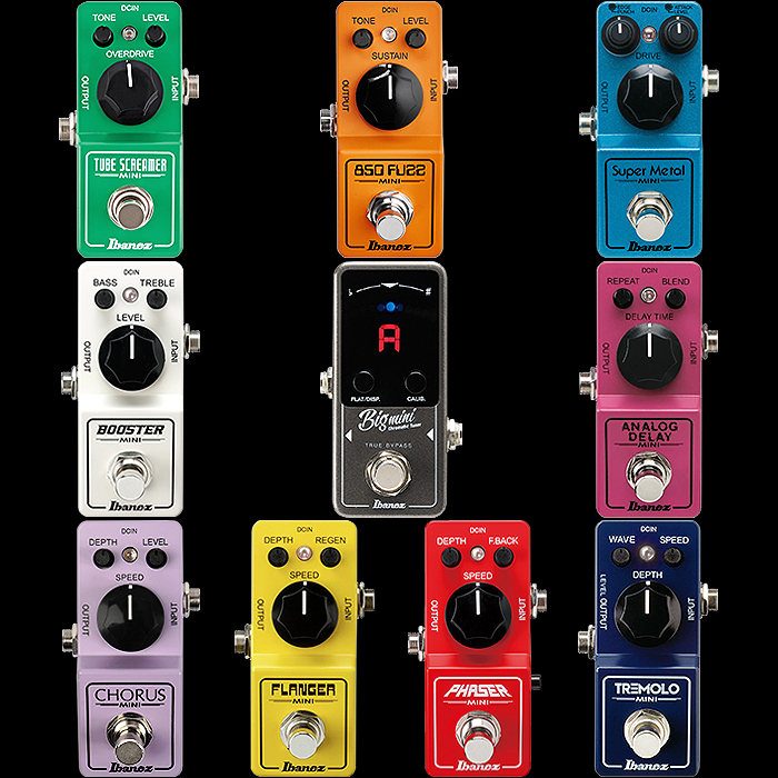 Ibanez Expands Mini Pedal Lineup to 10 with New Boost and Phaser editions