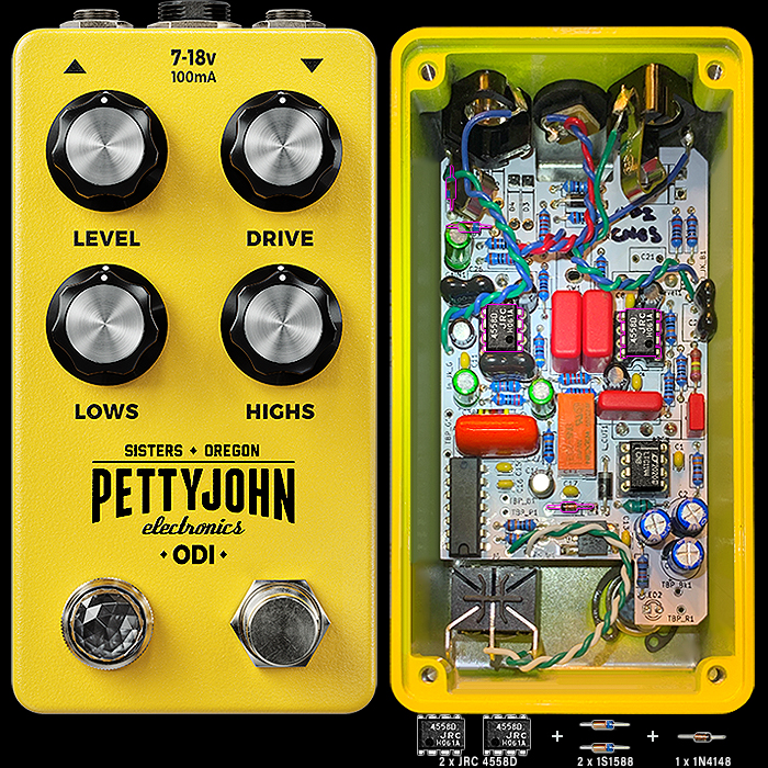 Pettyjohn Electronics Delivers Extraordinary Vintage Textures with its ODI Overdrive - in Classic Mods and NOS Diodes Edition