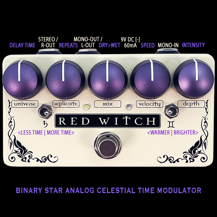 Ben Fulton's Red Witch Pedals Reveals the Glorious Binary Star Stereo Analog Celestial Time Modulator