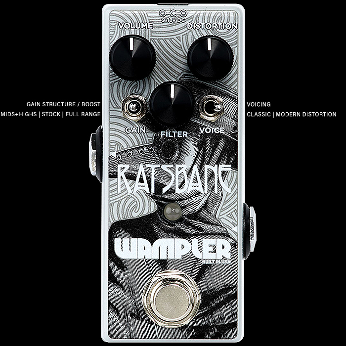 Brian Wampler Unleashes Killer Evolved Mini Rat - the Ratsbane Distortion