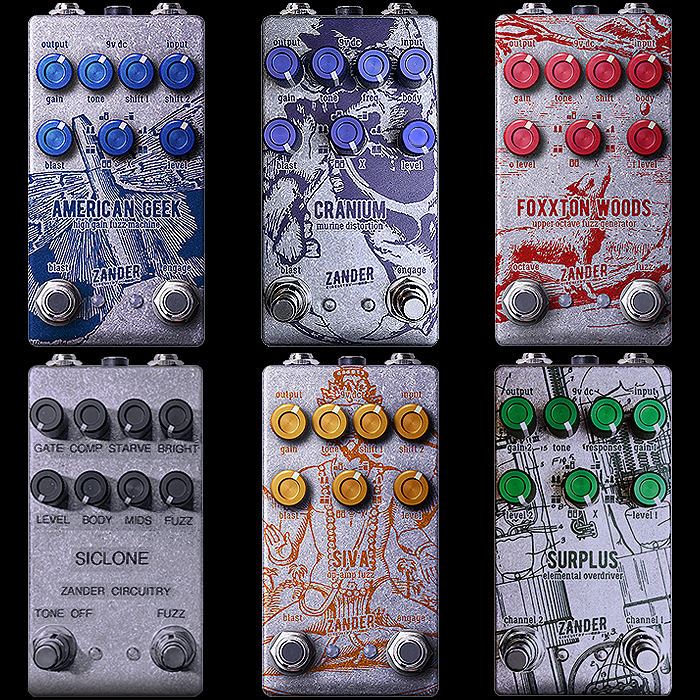 Zander Circuitry's New Compact Edition Guitar Pedals are now up to a total of Six