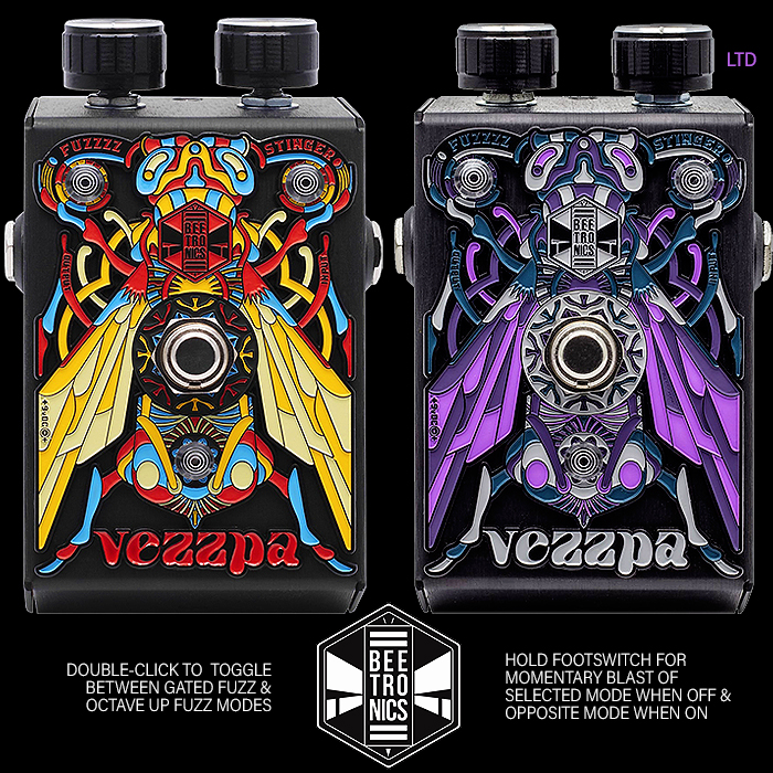 Beetronics FX Release the Exceedingly Appealing Vezzpa Octave Stinger Dual-Mode Gated and Upper Octave Opamp Fuzz