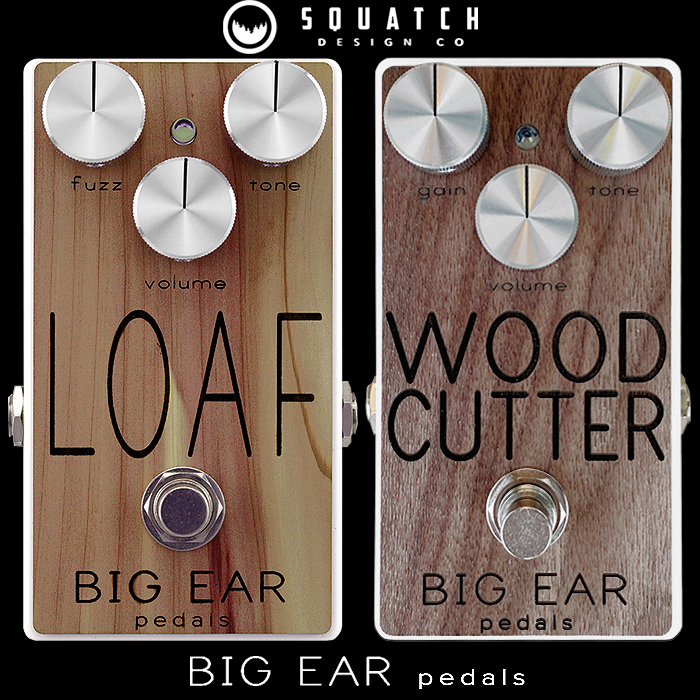 Big Ear Pedals has Collaborated once again with Squatch Design Co for a Limited Run of 10 Wood-Facia Editions of the Loaf Fuzz