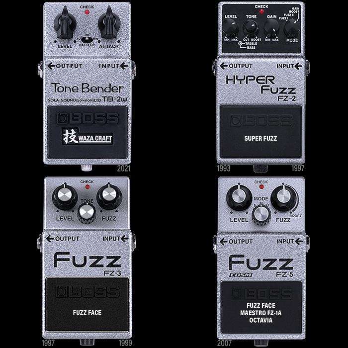 Boss Fuzzology - FZ-2, FZ-3, FZ-5, & TB-2W