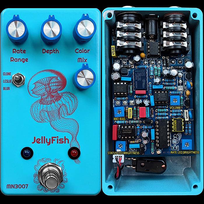 Vitalii Bobrov's Drunk Beaver Jellyfish MN3007 Analog BBD Chorus has that elegant sparkly brightness that so many players love