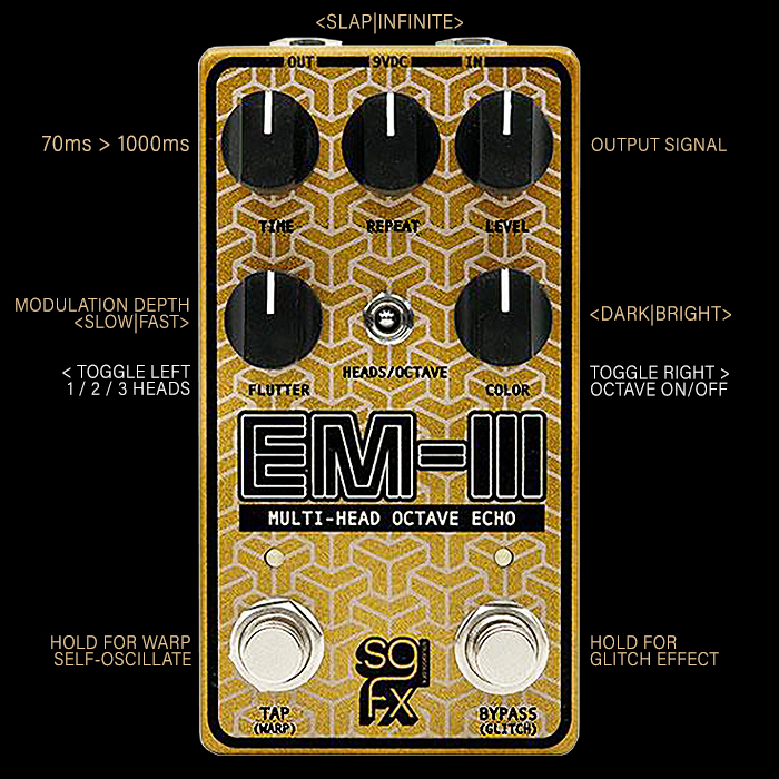 SolidGoldFX Release the Innovative Compact EM-III Multi-Head Octave Echo