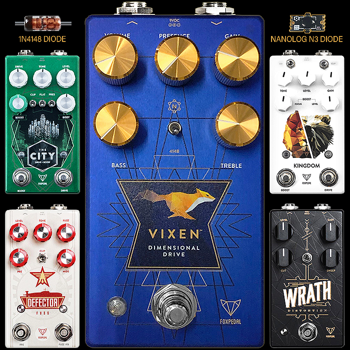 Foxpedal Delivers its first new Guitar Pedal in Years - The Highly Appealing Vixen Dimensional Drive