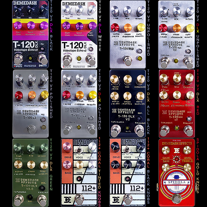 Steve Demedash has a significant Drop of Limited and Standard Edition Pedals hitting Reverb.com at 10:00 CST Each Working Day of this Week