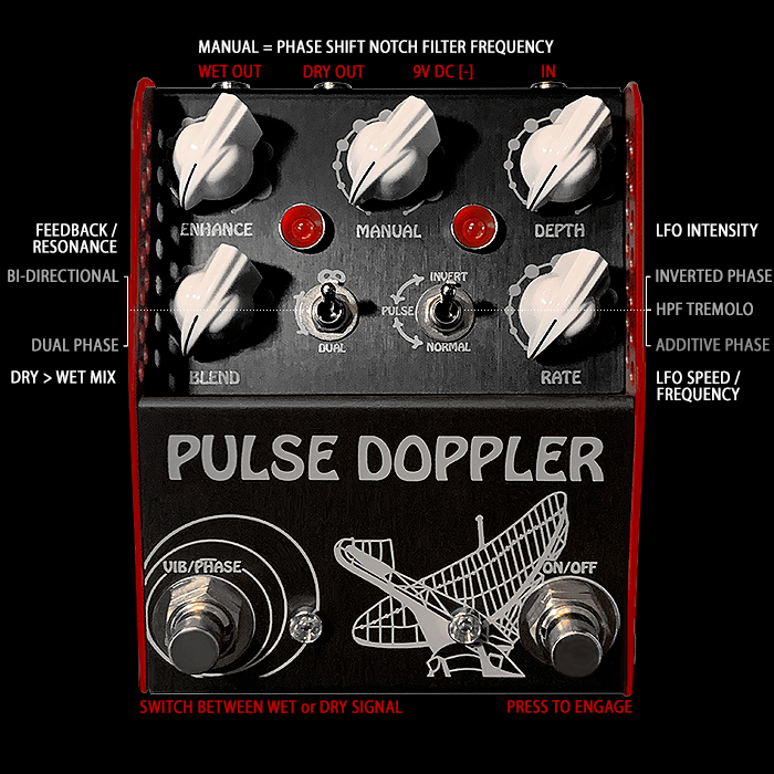 ThorpyFX takes the 4-Stage Phaser to the Next Level with its Superbly Innovative Pulse Doppler Analog Multi-Mode Phase-Shifter, Vibrato, and Pulsating Tremolo Pedal