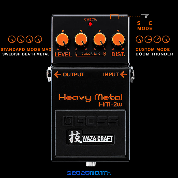 The Boss HM-2W Heavy Metal Waza Craft Edition is just as Viscerally Exciting as the original - with extra Thunder on the new Custom Setting