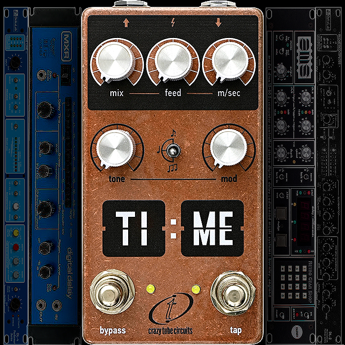Crazy Tube Circuits Unveils the Smart Compact TI:ME Machine - an innovative take on those Highly Musical 1970's Early Digital Delay Rack Units