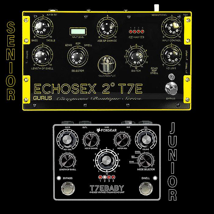 Foxgear Launches Junior T7E Baby Version of Sibling Brand Gurus's Formidable Flagship Echosex 2 T7E Echorec-style Delay Unit