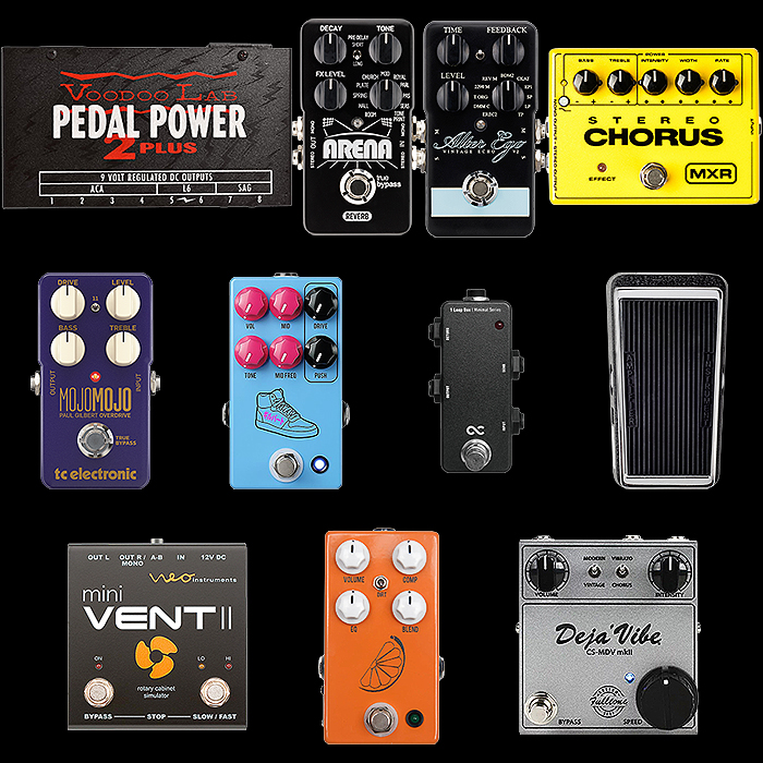 Paul Gilbert 2021 Pedalboard Dynamics and Essential Tone Components