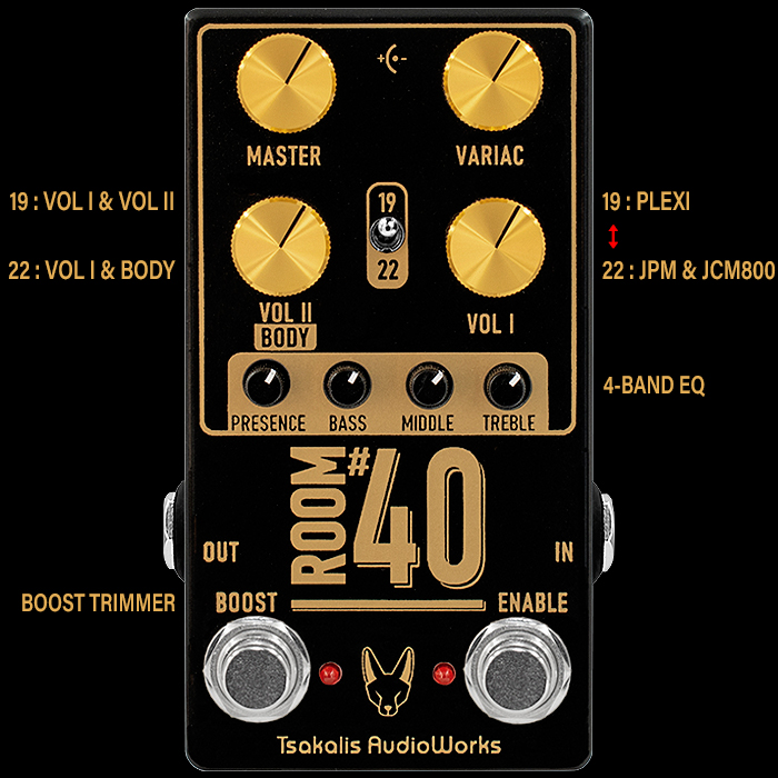 Tsakalis Audioworks Launches Killer Compact Dual-Voiced Full-Range Marshall-in-a-box - the Room #40 Preamp/Overdrive/Distortion