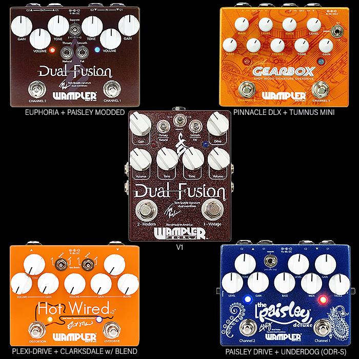A Brief Overview of Wampler Dual-Channel Overdrive/Distortion Pedals - Which One is right for you?