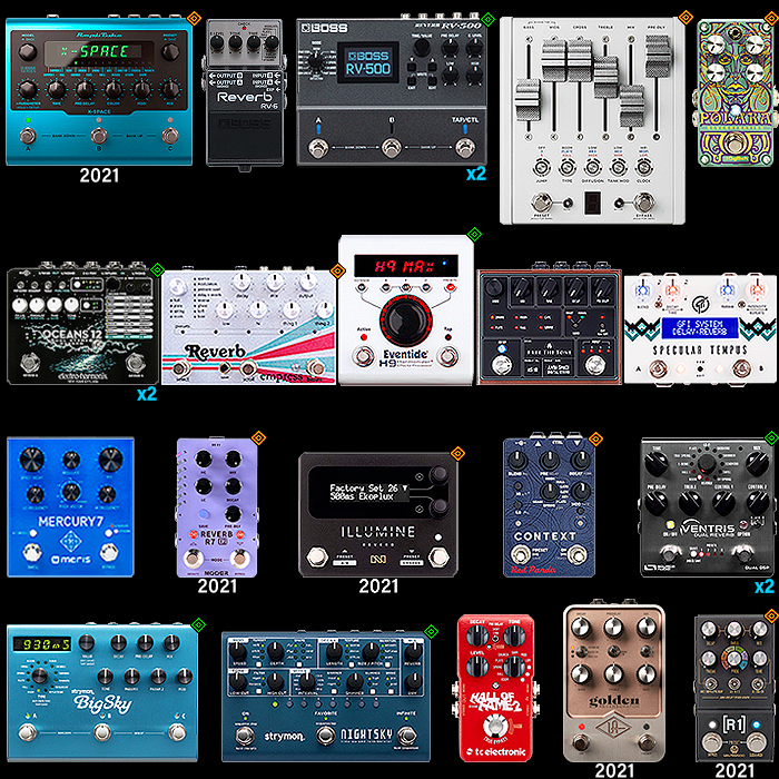 2021 Top 20 Stereo Reverb Workstation Pedal Roundup