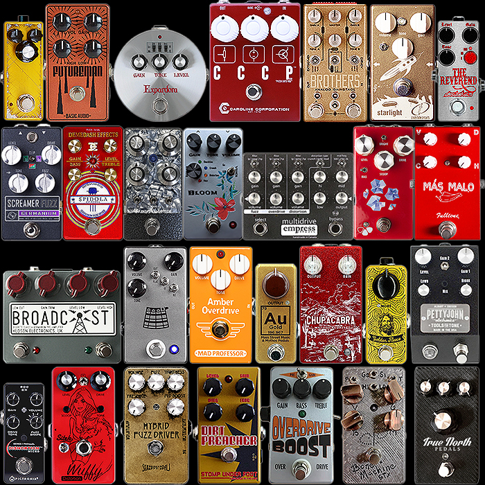 28 Favourite Fuzzy-Drive Pedals