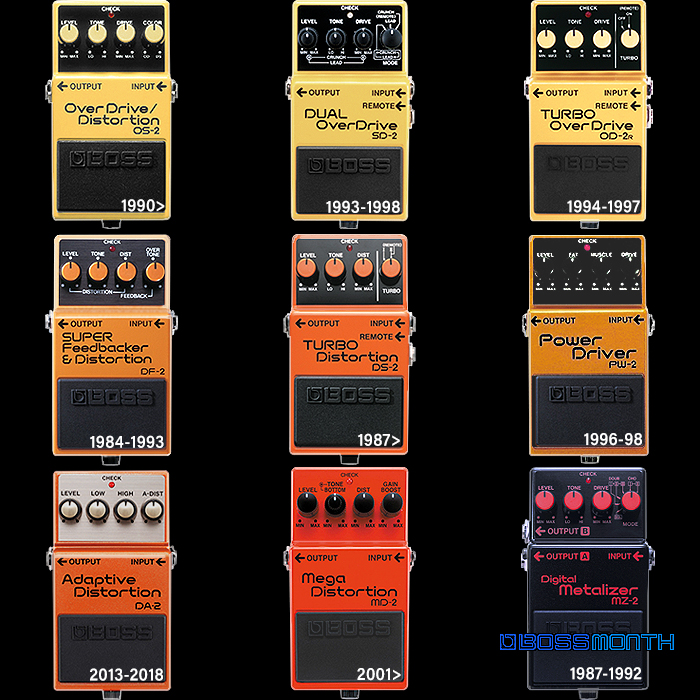 9 Unsung Boss OverDrive and Distortion Pedals