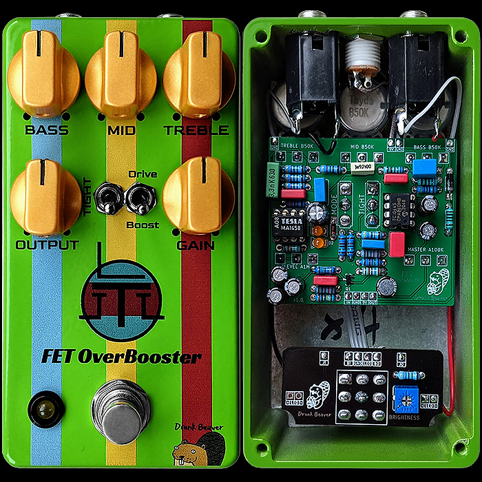Vitalii Bobrov's Drunk Beaver (Boba) FET OverBooster is a fantastic take on the long discontinued Boss FA-1 FET Amplifier
