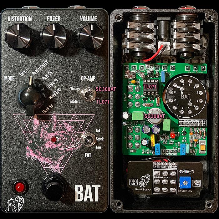 Vitalii Bobrov's Drunk Beaver Standard Vintage + Modern V2 Bat Distortion Pedal Completes the Trifecta!