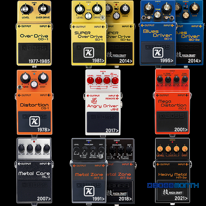 All-Time Personal Favourite Boss OverDrive and Distortion Pedals