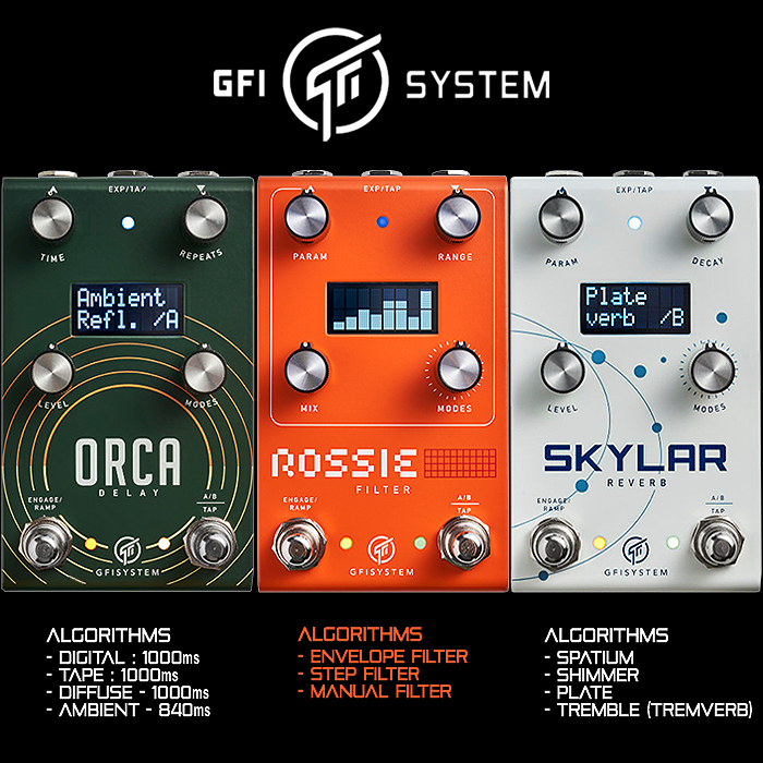 GFI System Launches the Third of its Slimline Medium Enclosure Series - The 3-Mode Rossie Dynamic Multi-Filter Pedal