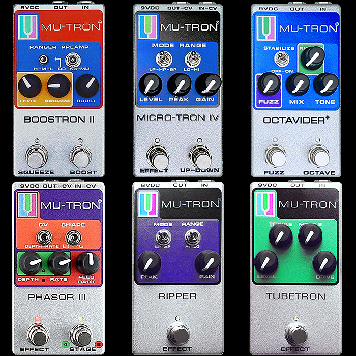 The Ever-Compelling Mu-Tron Vintage Silver Range of Analog Effects is Now Available at Joe's Pedals