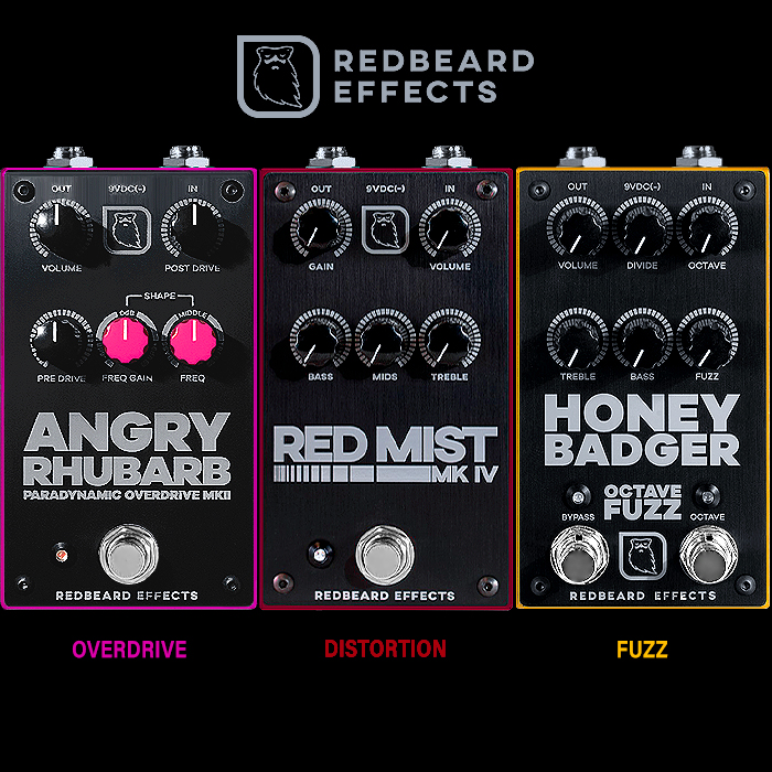 Redbeard Effects' Overdrive, Distortion and Fuzz Trifecta delivers a Potent and Versatile Core to the Heart of any Pedalboard